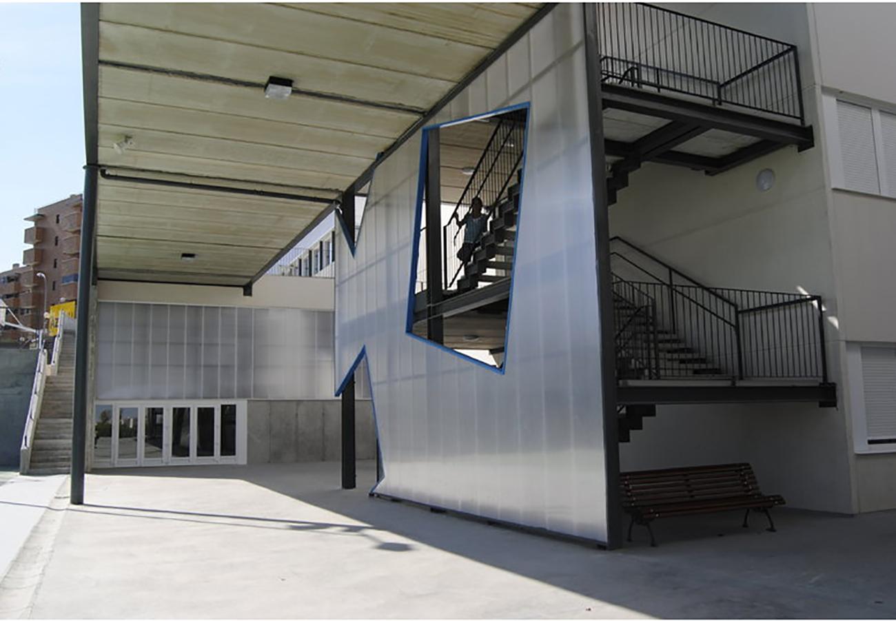 Escaleras del Colegio en Tres Cantos